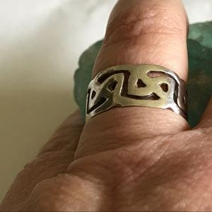 Vintage Celtic Knot Sterling Silver Band Ring 8